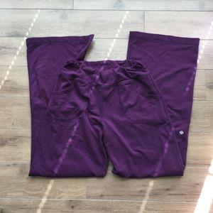 Lululemon athletic pants flare elastic waist